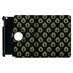 Peacock Inspired Background Apple Ipad 2 Flip 360 Case by Simbadda