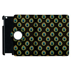 Peacock Inspired Background Apple Ipad 3/4 Flip 360 Case by Simbadda
