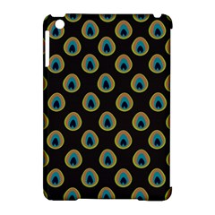Peacock Inspired Background Apple Ipad Mini Hardshell Case (compatible With Smart Cover) by Simbadda