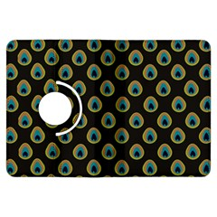 Peacock Inspired Background Kindle Fire Hdx Flip 360 Case by Simbadda