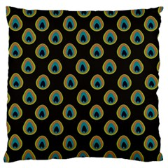 Peacock Inspired Background Standard Flano Cushion Case (two Sides) by Simbadda