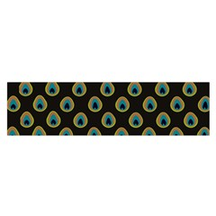 Peacock Inspired Background Satin Scarf (oblong) by Simbadda