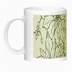 Poinsettia Flower Coloring Page Night Luminous Mugs by Simbadda