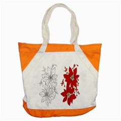 Poinsettia Flower Coloring Page Accent Tote Bag by Simbadda