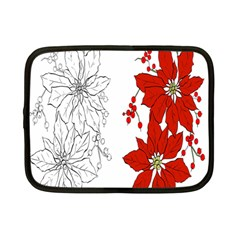 Poinsettia Flower Coloring Page Netbook Case (small)  by Simbadda