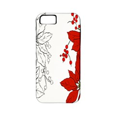 Poinsettia Flower Coloring Page Apple Iphone 5 Classic Hardshell Case (pc+silicone) by Simbadda