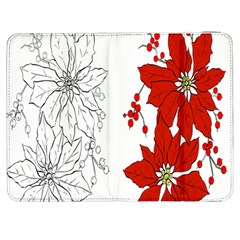 Poinsettia Flower Coloring Page Samsung Galaxy Tab 7  P1000 Flip Case by Simbadda