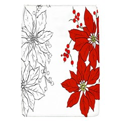 Poinsettia Flower Coloring Page Flap Covers (s)  by Simbadda