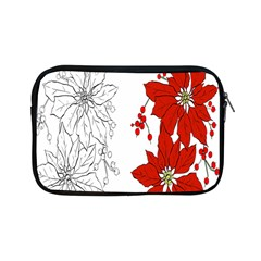 Poinsettia Flower Coloring Page Apple Ipad Mini Zipper Cases by Simbadda