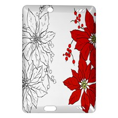 Poinsettia Flower Coloring Page Amazon Kindle Fire Hd (2013) Hardshell Case by Simbadda