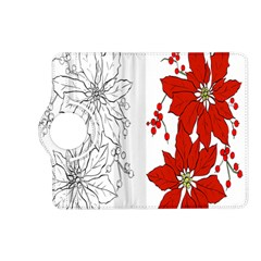Poinsettia Flower Coloring Page Kindle Fire Hd (2013) Flip 360 Case by Simbadda