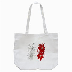 Poinsettia Flower Coloring Page Tote Bag (white) by Simbadda