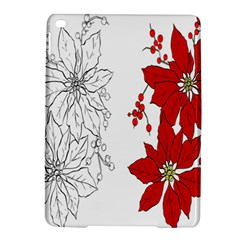 Poinsettia Flower Coloring Page Ipad Air 2 Hardshell Cases by Simbadda