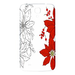 Poinsettia Flower Coloring Page Samsung Galaxy Mega I9200 Hardshell Back Case by Simbadda