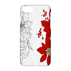 Poinsettia Flower Coloring Page Apple Iphone 7 Hardshell Case by Simbadda