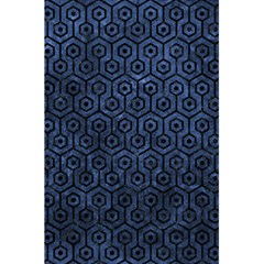 Hexagon1 Black Marble & Blue Stone (r) 5 5  X 8 5  Notebook by trendistuff
