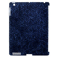 Hexagon1 Black Marble & Blue Stone (r) Apple Ipad 3/4 Hardshell Case (compatible With Smart Cover) by trendistuff