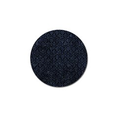 Hexagon1 Black Marble & Blue Stone Golf Ball Marker (4 Pack) by trendistuff