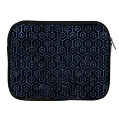 Hexagon1 Black Marble & Blue Stone Apple Ipad Zipper Case by trendistuff