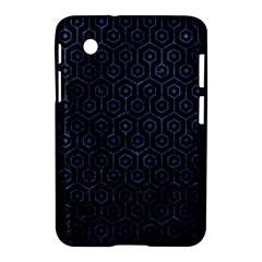 Hexagon1 Black Marble & Blue Stone Samsung Galaxy Tab 2 (7 ) P3100 Hardshell Case  by trendistuff