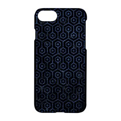 Hexagon1 Black Marble & Blue Stone Apple Iphone 7 Hardshell Case by trendistuff
