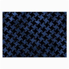Houndstooth2 Black Marble & Blue Stone Large Glasses Cloth by trendistuff