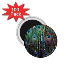 Peacock Jewelery 1 75  Magnets (100 Pack)  by Simbadda