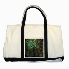 Peacock Jewelery Two Tone Tote Bag by Simbadda