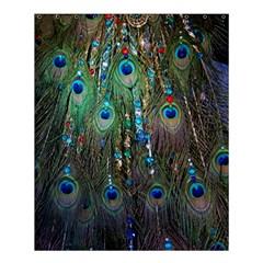 Peacock Jewelery Shower Curtain 60  X 72  (medium)  by Simbadda