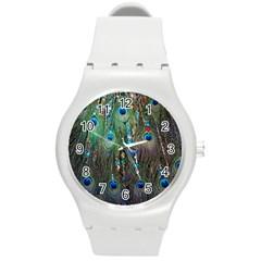 Peacock Jewelery Round Plastic Sport Watch (m) by Simbadda