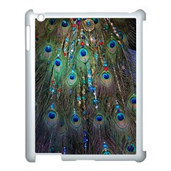 Peacock Jewelery Apple Ipad 3/4 Case (white) by Simbadda