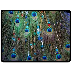 Peacock Jewelery Double Sided Fleece Blanket (large)  by Simbadda
