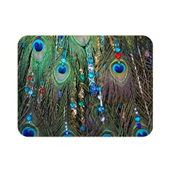 Peacock Jewelery Double Sided Flano Blanket (mini)  by Simbadda