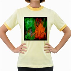 Watercolor Grunge Background Women s Fitted Ringer T Shirts by Simbadda