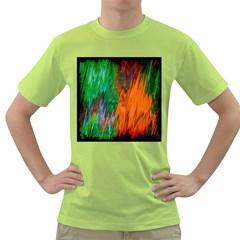 Watercolor Grunge Background Green T Shirt by Simbadda