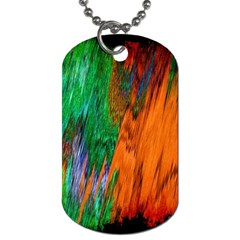 Watercolor Grunge Background Dog Tag (one Side) by Simbadda