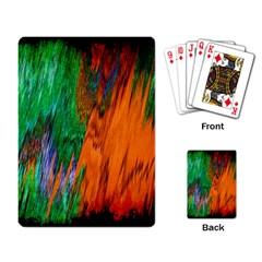Watercolor Grunge Background Playing Card by Simbadda