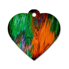 Watercolor Grunge Background Dog Tag Heart (one Side) by Simbadda