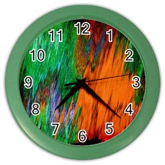 Watercolor Grunge Background Color Wall Clocks