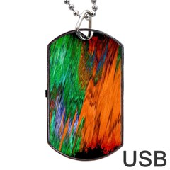Watercolor Grunge Background Dog Tag Usb Flash (two Sides) by Simbadda