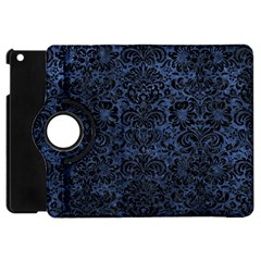 Damask2 Black Marble & Blue Stone (r) Apple Ipad Mini Flip 360 Case by trendistuff