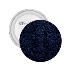 Damask2 Black Marble & Blue Stone 2 25  Button by trendistuff