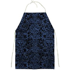 Damask2 Black Marble & Blue Stone Full Print Apron by trendistuff