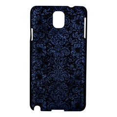 Damask2 Black Marble & Blue Stone Samsung Galaxy Note 3 N9005 Hardshell Case by trendistuff