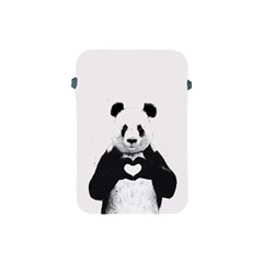 Panda Love Heart Apple Ipad Mini Protective Soft Cases by Onesevenart