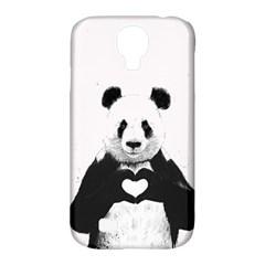 Panda Love Heart Samsung Galaxy S4 Classic Hardshell Case (pc+silicone) by Onesevenart