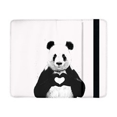 Panda Love Heart Samsung Galaxy Tab Pro 8 4  Flip Case by Onesevenart