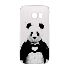 Panda Love Heart Galaxy S6 Edge by Onesevenart