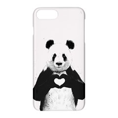 Panda Love Heart Apple Iphone 7 Plus Hardshell Case by Onesevenart
