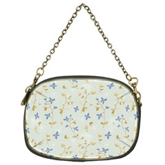 Vintage Hand Drawn Floral Background Chain Purses (one Side)  by TastefulDesigns